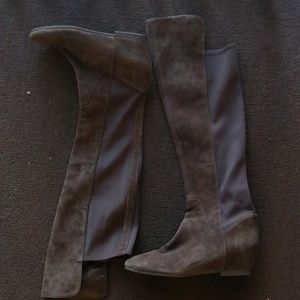 Nine West boots Size 9 Suede elástic Over Knee